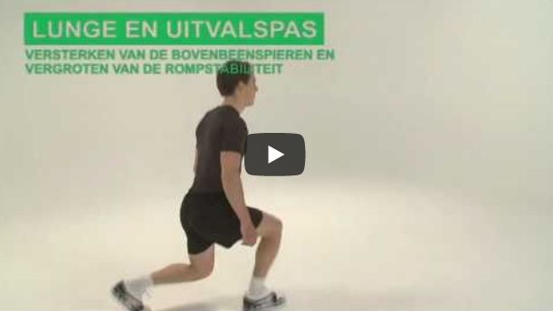 Screenshot video lunge en uitvalspas