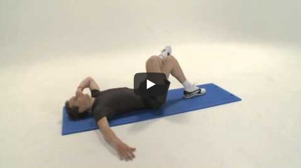 Screenshot video schuine crunches op mat