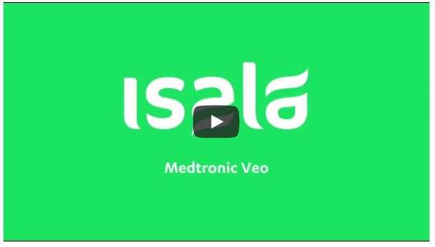 Screenshot video Insulinepomp Medtronic Veo