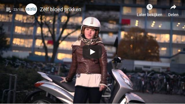 Screenshot video Zelf bloed prikken